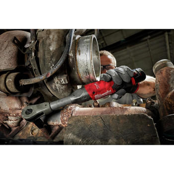 Milwaukee 2560-21 M12 FUEL Cordless Lithium-Ion 3/8 in. 2.0 Ah Extended Reach Ratchet Kit image number 4