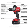 Milwaukee 2998-23 M18 FUEL Brushless Lithium-Ion Cordless 3-Tool Combo Kit (5 Ah) image number 2