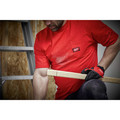 Milwaukee 601R-M Heavy Duty Short Sleeve Pocket Tee Shirt - Red, Medium image number 4