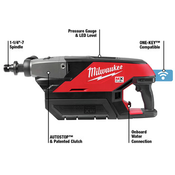 Milwaukee MXF301-1CP MX FUEL Lithium-Ion Handheld Core Drill Kit image number 4