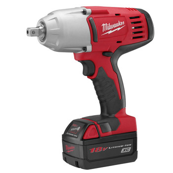 Milwaukee 2662-22 M18 18V Cordless 1/2 in. Lithium-Ion High Torque Impact Wrench Kit with 2 Batteries image number 1