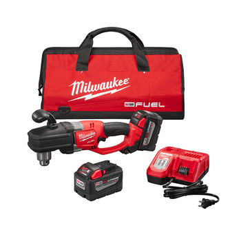 Milwaukee 2707-22HD M18 FUEL HOLE HAWG Lithium-Ion 1/2 in. Cordless Right Angle Drill Kit (9 Ah)