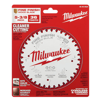 Milwaukee 48-40-0524 5-3/8 in. 36T Fine Finish Circular Saw Blade image number 1