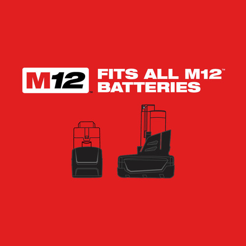 Milwaukee 2463-22 M12 12V Cordless Lithium-Ion 3/8 in. Impact Wrench Kit image number 3