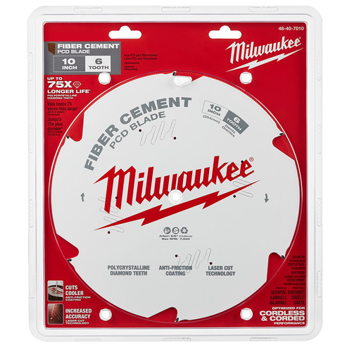 Milwaukee 48-40-7010 10 in. PCD/Fiber Cement Circular Saw Blade