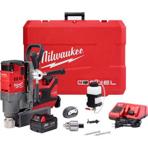 Milwaukee 2787-22 M18 FUEL Cordless Lithium-Ion 1-1/2 in. Magnetic Drill Kit