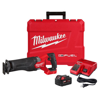 Milwaukee 2821-21 M18 FUEL Brushless Lithium-Ion SAWZALL 1-1/4 in. Cordless Reciprocating Saw Kit with (1) Battery (5 Ah)