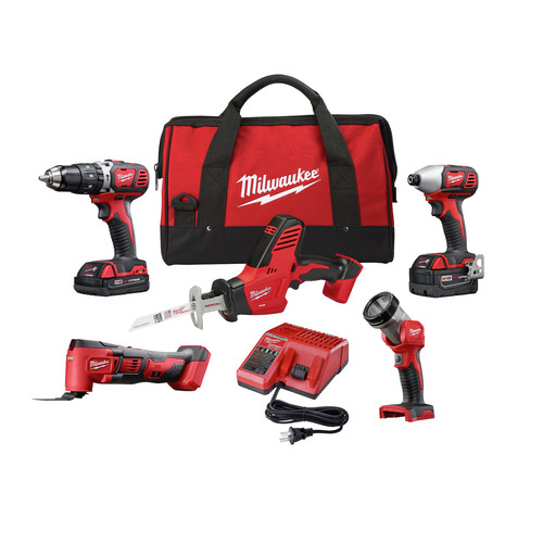 Milwaukee 2694-25CX M18 Cordless Lithium-Ion 5-Tool Combo Kit