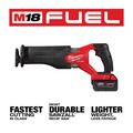Milwaukee 2821-21 M18 FUEL Brushless Lithium-Ion SAWZALL 1-1/4 in. Cordless Reciprocating Saw Kit with (1) Battery (5 Ah) image number 3