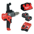 Milwaukee 2810-22 M18 FUEL Lithium-Ion 1/2 in. Cordless Mud Mixer with 180-Degree Handle Kit (5 Ah) image number 0