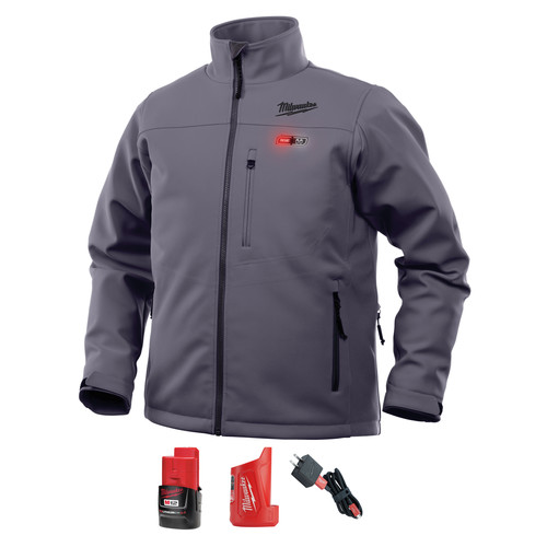 Milwaukee 202G-21S M12 Heated TOUGHSHELL Jacket Kit - Gray, Small image number 0