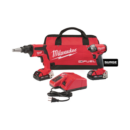 Milwaukee 2896-22CT M18 FUEL 18V 2.0 Ah Cordless Lithium-Ion 2-Tool Combo Kit