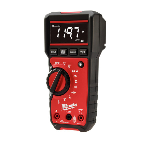 Milwaukee 2217-20 Digital Multimeter High Contrast White on Black Display image number 1