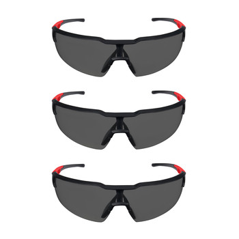 Milwaukee 48-73-2054 3-Piece Tinted Safety Glasses with Anti-Scratch Lens Set