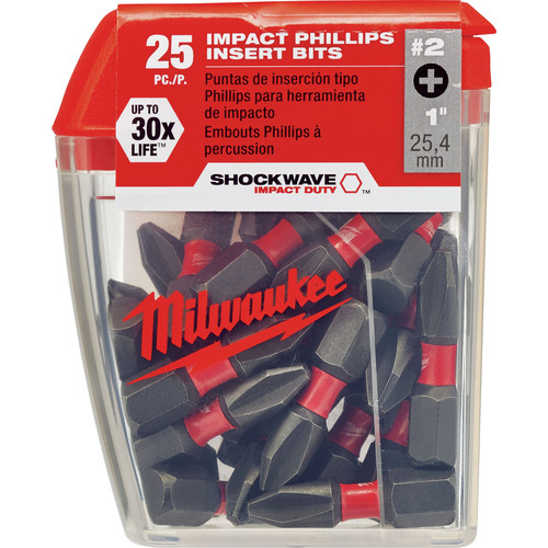 Milwaukee 48-32-4604 #2 Phillips Shockwave Insert Bit (25-Pack) image number 0