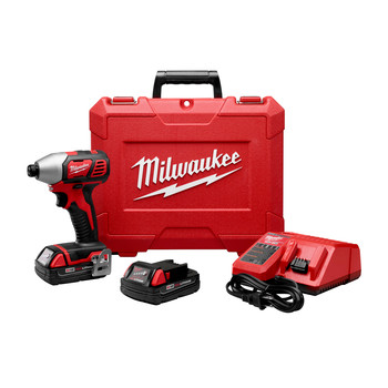 Factory Reconditioned Milwaukee 2656-82CT M18 18V Cordless Lithium-Ion 1/4 in. Hex Compact Impact Driver Kit (1.5 Ah) image number 0