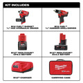 Milwaukee 2582-22 M12 FUEL Hydraulic Driver / Drill Driver Combo Kit image number 1