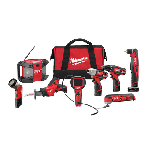 Milwaukee 2495-28 M12 Lithium-Ion 8-Tool Combo Kit image number 0