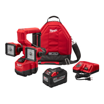Milwaukee 2122-21HD M18 18V 9.0 Ah Cordless Lithium-Ion Utility Bucket Light Kit image number 0