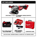 Milwaukee 2780-21 M18 FUEL Brushless Lithium-Ion 4-1/2 in. / 5 in. Cordless Paddle Switch No-Lock Grinder Kit (5 Ah) image number 1