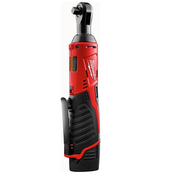 Milwaukee 2457-21P M12 3/8 in. Ratchet with FREE REDLITHIUM CP1.5 Ah Battery image number 0