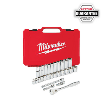 Milwaukee 48-22-9408 3/8 in. Drive 28pc Ratchet & Socket Set (SAE)