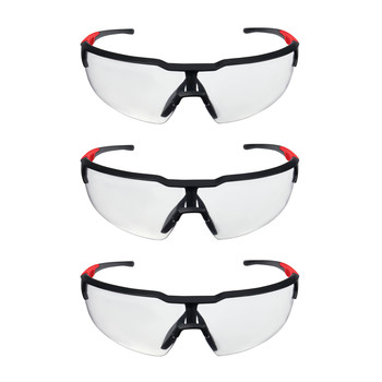 Milwaukee 48-73-2052 3-Piece Clear Safety Glasses with Anti-Scratch Lens Set