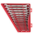 Milwaukee 48-22-9416 15 Pc Ratcheting Combination Wrench Set - SAE