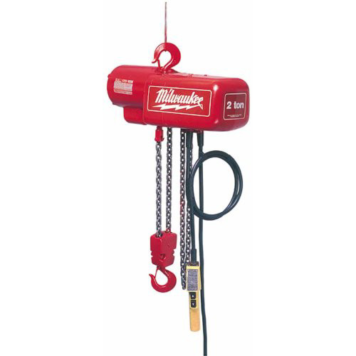 Milwaukee 9568 1 Ton Electric Chain Hoist with 20 ft. Lift