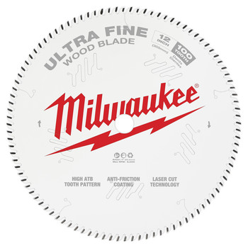 Milwaukee 48-40-1228 12 in. 100T Ultra Fine Finish Circular Saw Blade image number 0