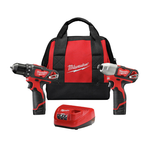 Factory Reconditioned Milwaukee 2494-82 M12 12V Lithium-Ion 3/8 in. Drill Driver and Impact Driver Combo Kit image number 0