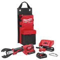 Milwaukee 2678-22BG M18 Force Logic 18V 2.0 Ah Cordless Lithium-Ion 6T Utility Crimper Kit with D3 Groves and Fixed BG Die image number 0