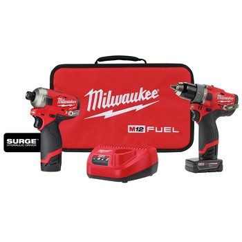 Milwaukee 2582-22 M12 FUEL Hydraulic Driver / Drill Driver Combo Kit