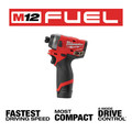 Milwaukee 2553-22 M12 FUEL 1/4 in. Hex Impact Driver Kit image number 11
