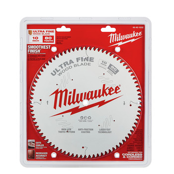 Milwaukee 48-40-1032 10 in. 80T Ultra Fine Finish Circular Saw Blade image number 1