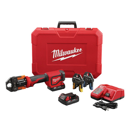 Milwaukee 2674-22P M18 18V 2.0 Ah Short Throw Press Tool Kit with Viega PureFlow Jaws image number 0