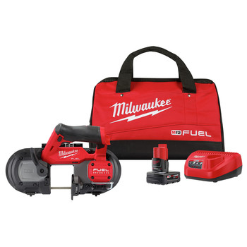 Milwaukee 2529-21XC M12 FUEL Brushless Lithium-Ion Cordless Compact Band Saw Kit (4 Ah)