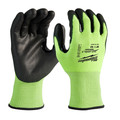 Milwaukee 48-73-8933B 12-Piece Cut Level 3 High Visibility Polyurethane Dipped Gloves - XL image number 0