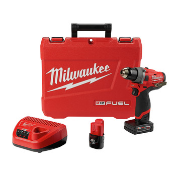 Milwaukee 2503-22 M12 FUEL Lithium-Ion 1/2 in. Cordless Drill Driver Kit (4 Ah)