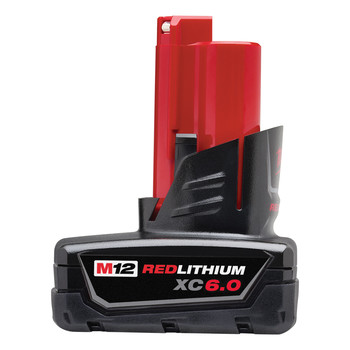 Milwaukee 48-11-2460 M12 REDLITHIUM XC 6 Ah Lithium-Ion Battery image number 0