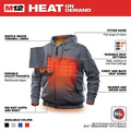 Milwaukee 302G-202X M12 12V Li-Ion Heated Hoodie (Jacket Only) - 2XL image number 3