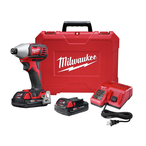 Milwaukee 2657-22CT M18 Lithium-Ion 2-Speed 1/4 in. Hex Impact Driver Kit