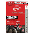 Milwaukee 48-39-0711 Extreme Thin M12 Sub-Compact 27 in. 12/14 TPI Metal Bandsaw Blades (3-Pack) image number 2