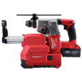 Milwaukee 2712-22DE M18 FUEL Lithium-Ion 1 in. SDS Plus Rotary Hammer and HAMMERVAC Dedicated Dust Extractor Kit image number 4