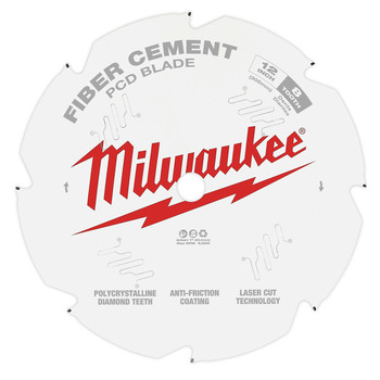 Milwaukee 48-40-7020 12 in. PCD/Fiber Cement Circular Saw Blade image number 1