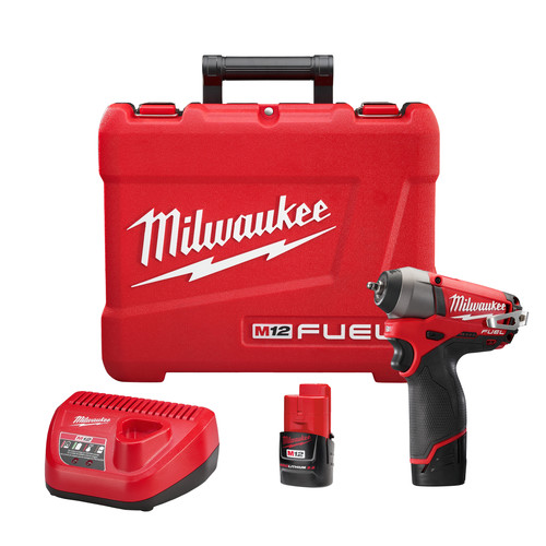 Milwaukee 2452-22 M12 FUEL Cordless Lithium-Ion 1/4 in. Impact Wrench image number 0