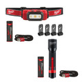 Milwaukee 2111-2110 USB Rechargeable Hard Hat Headlamp and 700L Flashlight Bundle image number 0