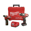 Milwaukee 2597-22 M12 FUEL 12V Cordless Lithium-Ion 1/2 in. Hammer Drill Driver & Impact Driver Combo Kit