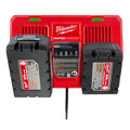 Milwaukee 48-59-1802 M18 Dual Bay Simultaneous Rapid Lithium-Ion Charger image number 8