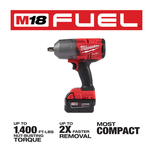 Milwaukee 2767-22 M18 FUEL High Torque 1/2 in. Impact Wrench with Friction Ring (Kit) image number 8